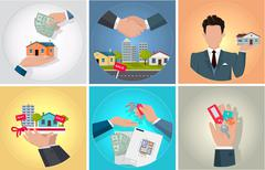 Sale Purchase and Rental of Property - stock illustration