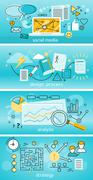 Social Media Analysis and Strategy Stock Illustration