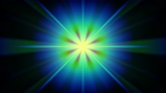 Abstract Neon Light Rays Stock Footage