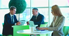 Office Workers at Break Stock Footage