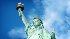 Statue Of Liberty In The Sun - stock footage
