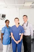 A portrait of medical staff - stock photo