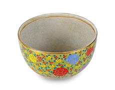 The Benjarong (Bencharong) , Ceramic old thai's design of bowl isolated Stock Photos