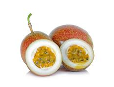 Passion fruit isolated on the white background Stock Photos