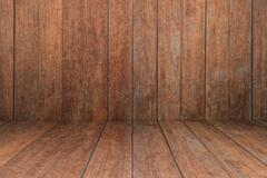 Old wooden interior texture background - stock photo