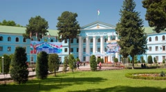 Tajik State Medical University named after Abu Ali ibn Sina in Dushanbe - stock footage
