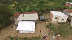 Distributing Relief to Earthquake-Affected Dos Caminos, Ecuador Stock Footage