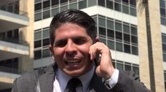 Angry Business Man On Cell Phone Stock Footage