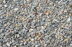 Gray gravel stone for background texture - stock photo