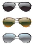 Sunglasses Icons - stock illustration