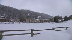 SWITZERLAND - Crans Montana - city view in winter Stock Footage