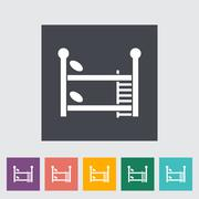 Bunk bed Vector Flat Icon - stock illustration