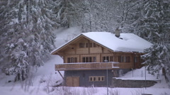 SWITZERLAND - Crans Montana - swiss chalet Stock Footage