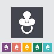 Nipple flat icon Stock Illustration