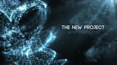 The Blue Space Movie Trailers and Titles Particles Opening Credits Stock After Effects