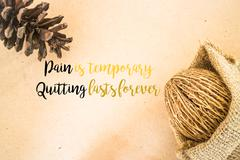 Inspiration quote on dried plant ornament background Kuvituskuvat