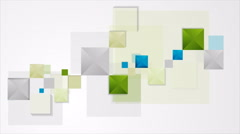 Abstract minimal geometric squares video animation Stock Footage