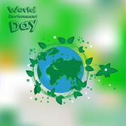 World Environment Day. Earht is our home. Vector illustration Stock Illustration
