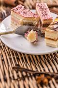 Small rectangular cake - stock photo