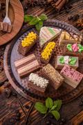 Layered pastries Stock Photos