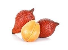 Salak fruit, Salacca zalacca isolated on the white background Stock Photos