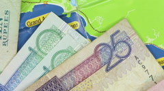 Banknotes and coins of Seychelles.  Stock Footage