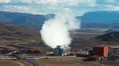 Geothermal power station in Iceland  Stock Footage