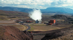 Krafla geothermal power station in Iceland  Stock Footage