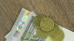 Loop of various currency notes  Stock Footage