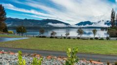 Morning Timelapse at Te Anau Lake Stock Footage