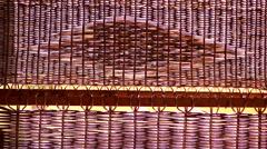 rattan reeds sun beam decor background - stock footage