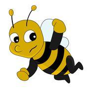 Cute cartoon bee Stock Illustration
