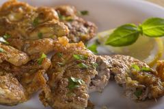 Fried pork brain Stock Photos