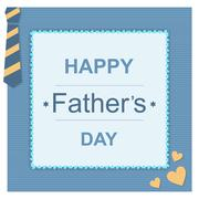 Father day greeting card Stock Illustration