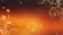 Wedding Background Orange - stock illustration
