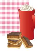 sweet snack - stock illustration