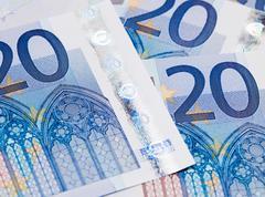Twenty euro banknotes - stock photo