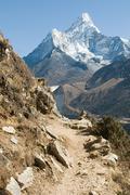 Ama dablam in the himalayas - stock photo