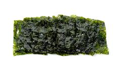 Dried seaweed isolated on the white background - stock photo
