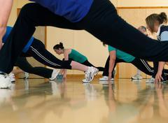 Aerobic exercise at gym Kuvituskuvat