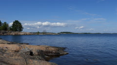 Island Coast in Sweden in 4k - stock footage
