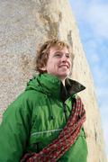 Close up portrait of climber Stock Photos