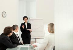 A corporate presentation Stock Photos