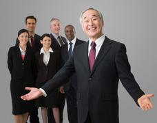 Portrait of a Japanese businessman - stock photo