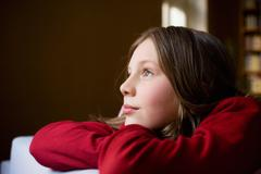 girl daydreaming - stock photo