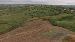 Rolling Hills of Corn Crops in Ecuador Stock Footage
