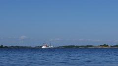 Fisher Boat - Island Coast in Sweden in 4k Stock Footage