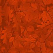 Autumn Leaves Low Poly - stock illustration