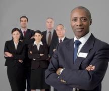 Portrait of a senior black businessman Stock Photos