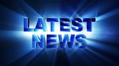 LATEST NEWS Text Animation Lights Rays, Loop, 4k Stock Footage